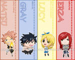 Chibi Fairy Tail bookmarks