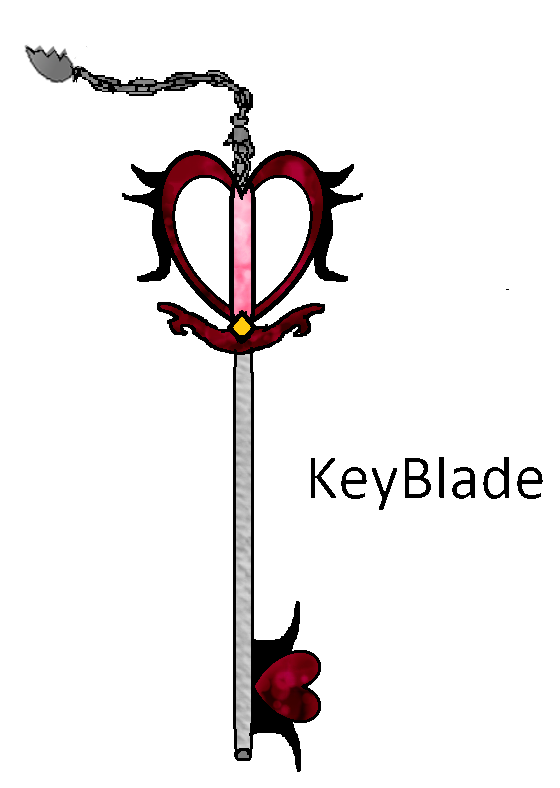 Shattered Heart Drawings :shattered heart keyblade by