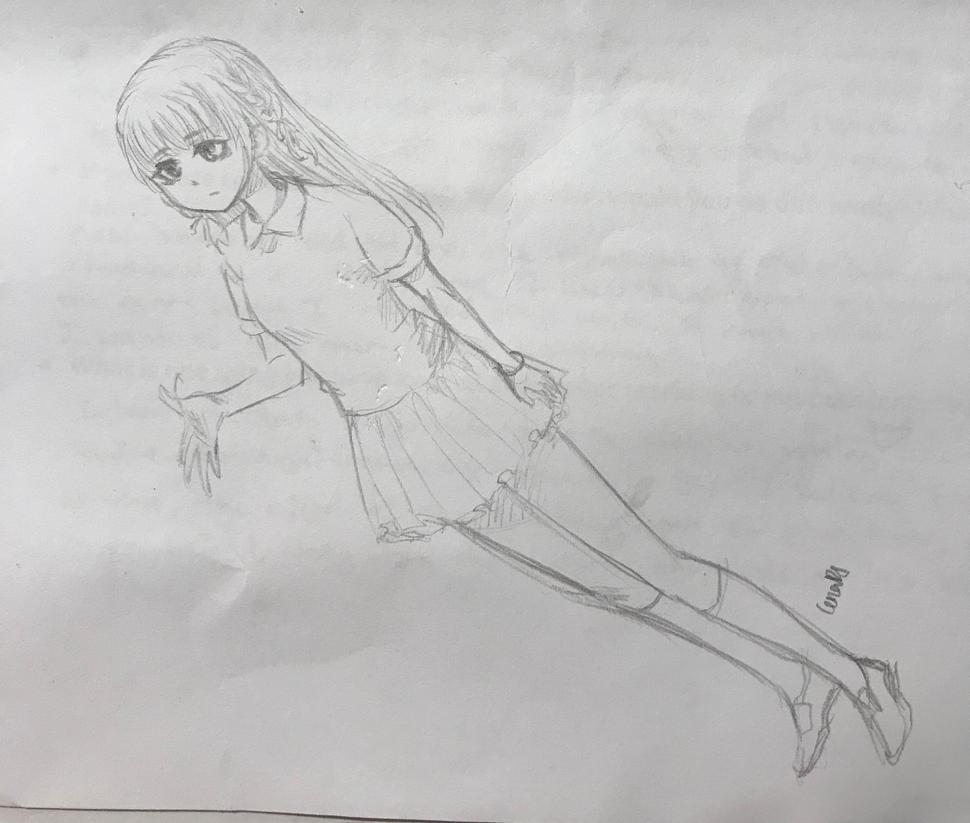Girl sketch polo shirt by CeriaJ
