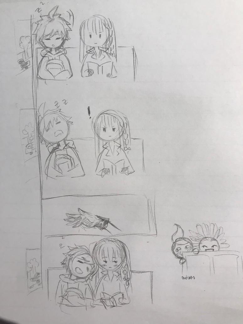 Doodle Time: Makoto and Kyoko by CeriaJ