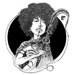 Afro-inks #8 by eddaviel