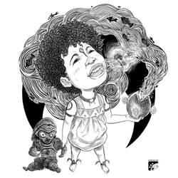 Afro-inks #9 by eddaviel