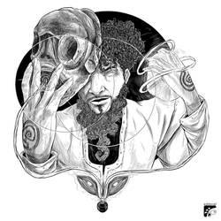 Afro-inks #10 by eddaviel