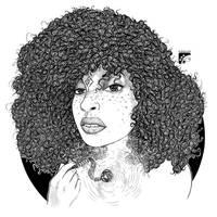 Afro-inks #11 by eddaviel