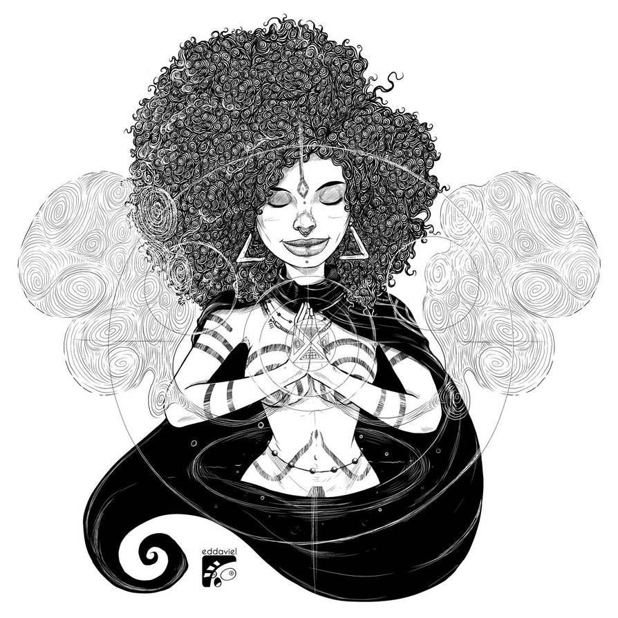 Afro-inks #15 by eddaviel