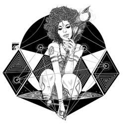 Afro-inks #16 by eddaviel