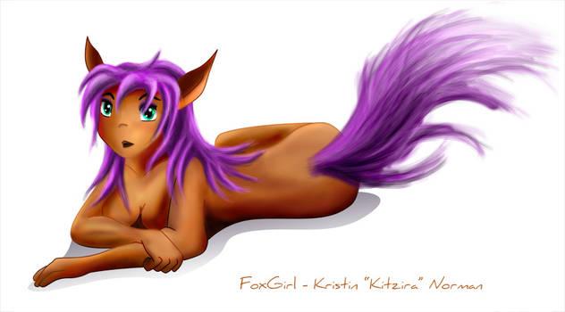 Purple Fox Girl by Kitzira