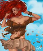 It's windy, it's autumn edit by Atramina