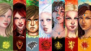 Girls of thrones wallpaper