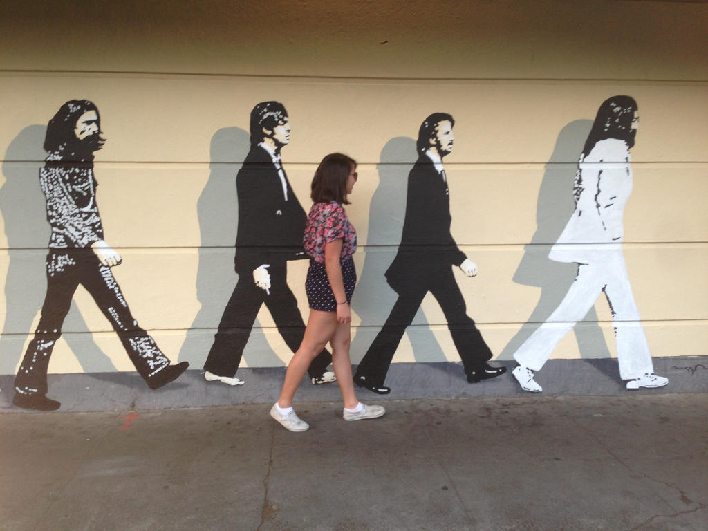 Beatles mural 2 by beatlegeek on deviantart for Beatles wall mural