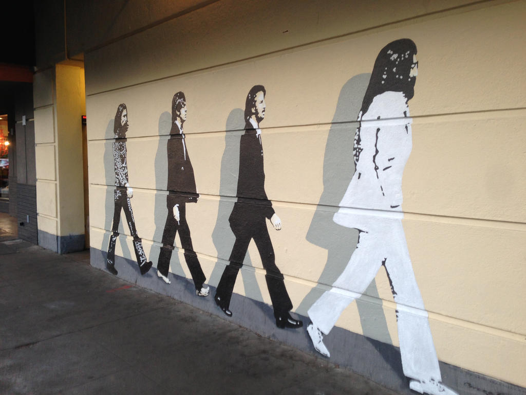 Beatles mural 5 by beatlegeek on deviantart for Beatles wall mural