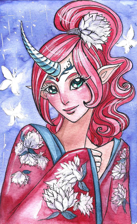 Unicorn girl by MonkeyDKiba