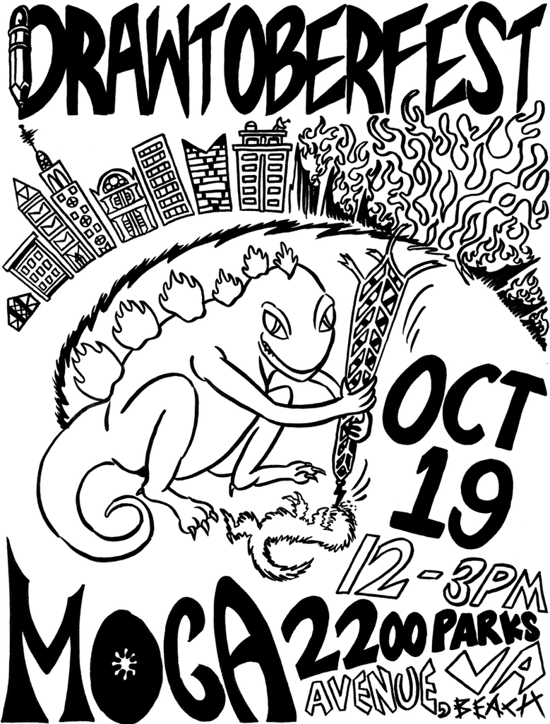 Drawtoberfest Poster by masochisticcannibal