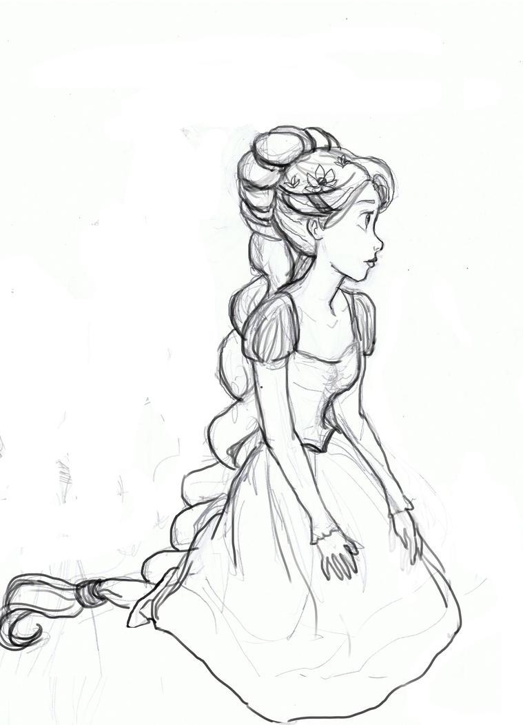 Rapunzel Sketch 2 By Atnica On DeviantArt