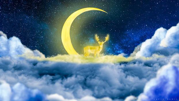 Golden deer by SaFram