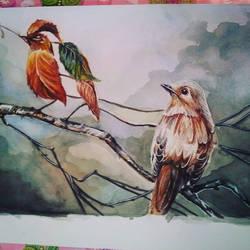 Bird and leaves Illusion by YumikoNagi