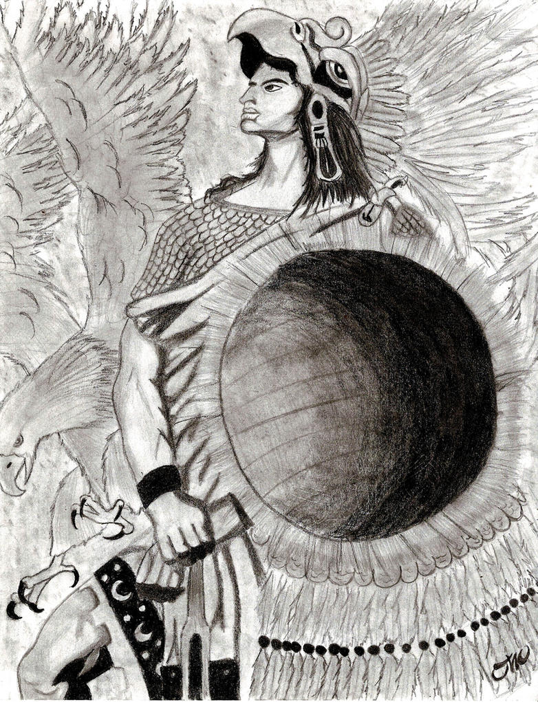 Aztec Warrior by oliver1634 on DeviantArt  Aztec Pencil Drawings