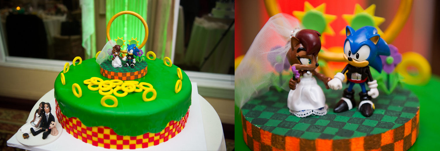 sonic and sally wedding cake topper by wakeangel by techaspike on