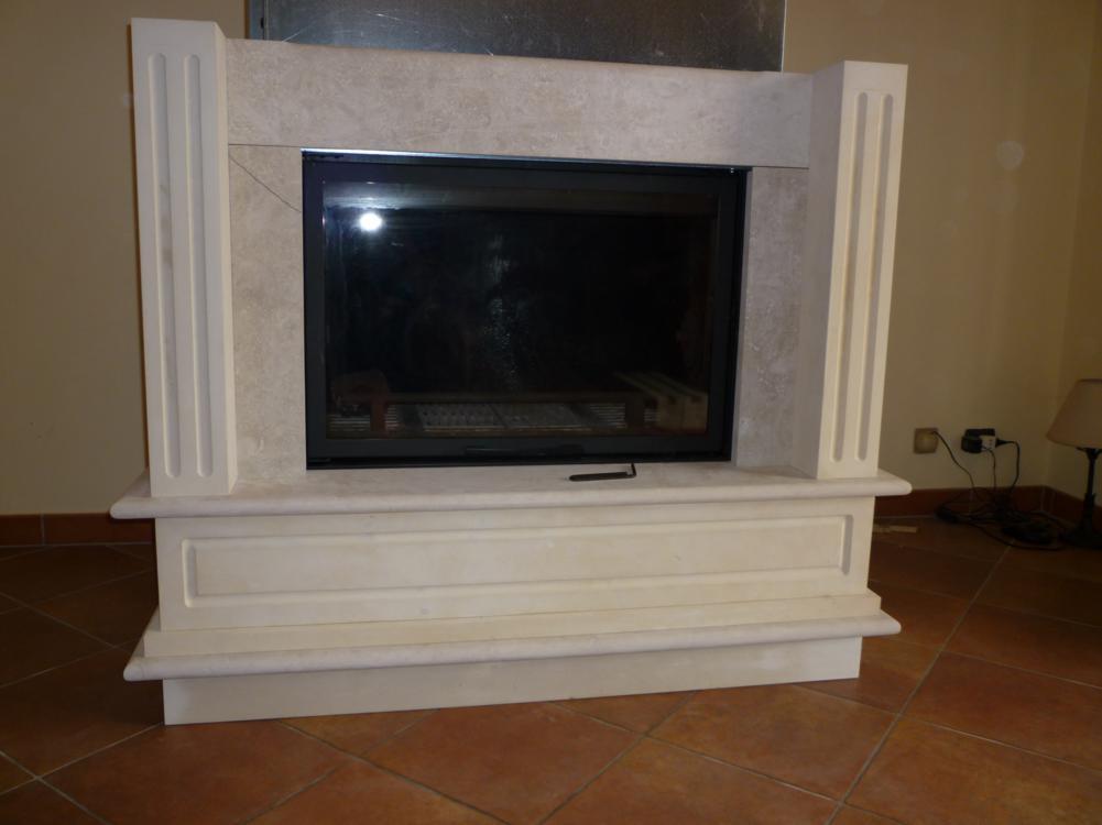 Rivestimento-per-termocamino-in-pietra-bianca by BagnatoArtigianato on ...