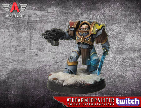 Twitch Painting: Space Wolf Terminator