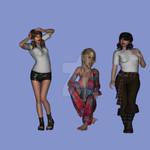 My 1st Poser Models by kayleegirl
