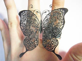 paper cutting butterfly