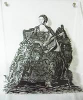 papercutting:Madame de Pompado by masamisato