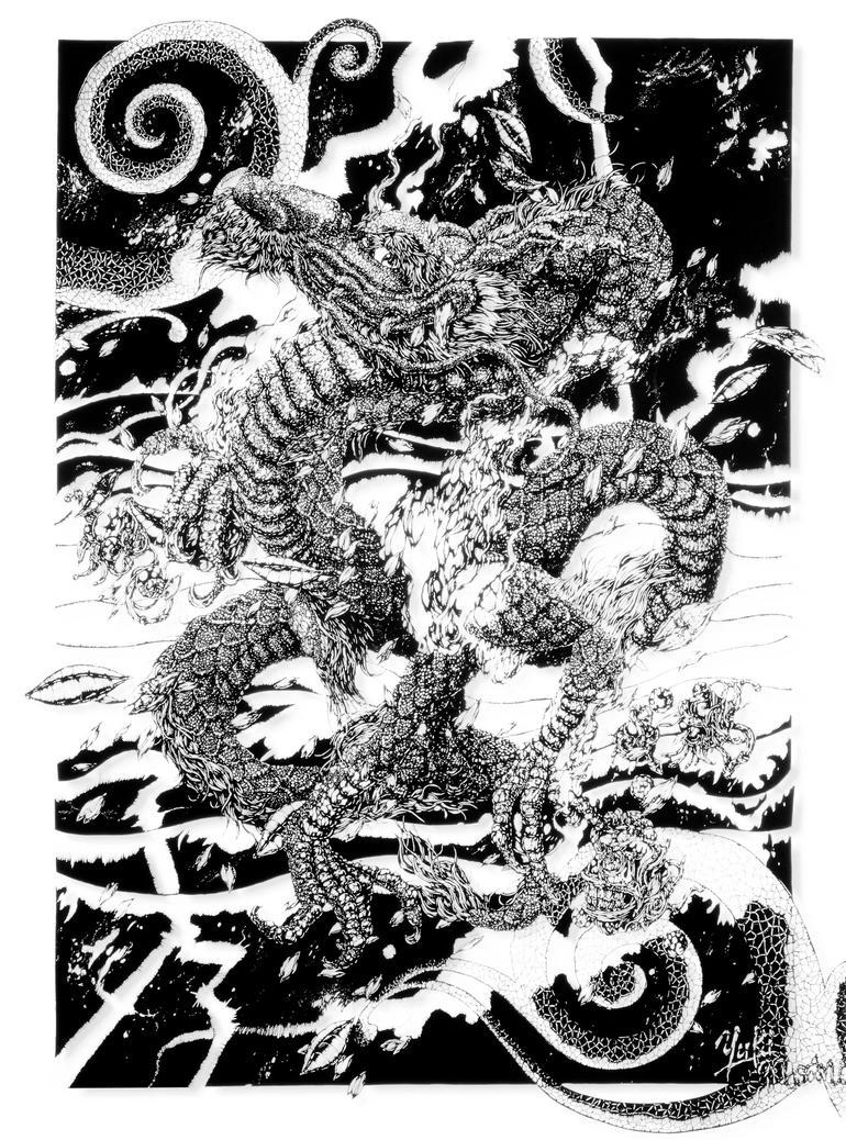papercutting: Spring Dragon by masamisato