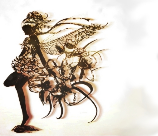 papercutting:dragonfly by masamisato