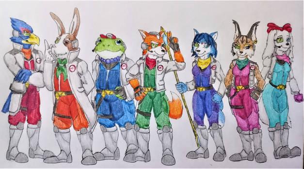 Star Fox: The Lylat Wars- Team Star Fox