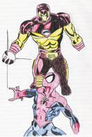 Iron Man and Spider-man v3 by Glwills1126