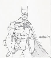 Batman sketch 1-12 by Glwills1126