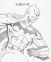 Batman sketch 2 1-12 by Glwills1126