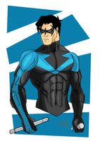 nightwing bust 2-11 by Glwills1126