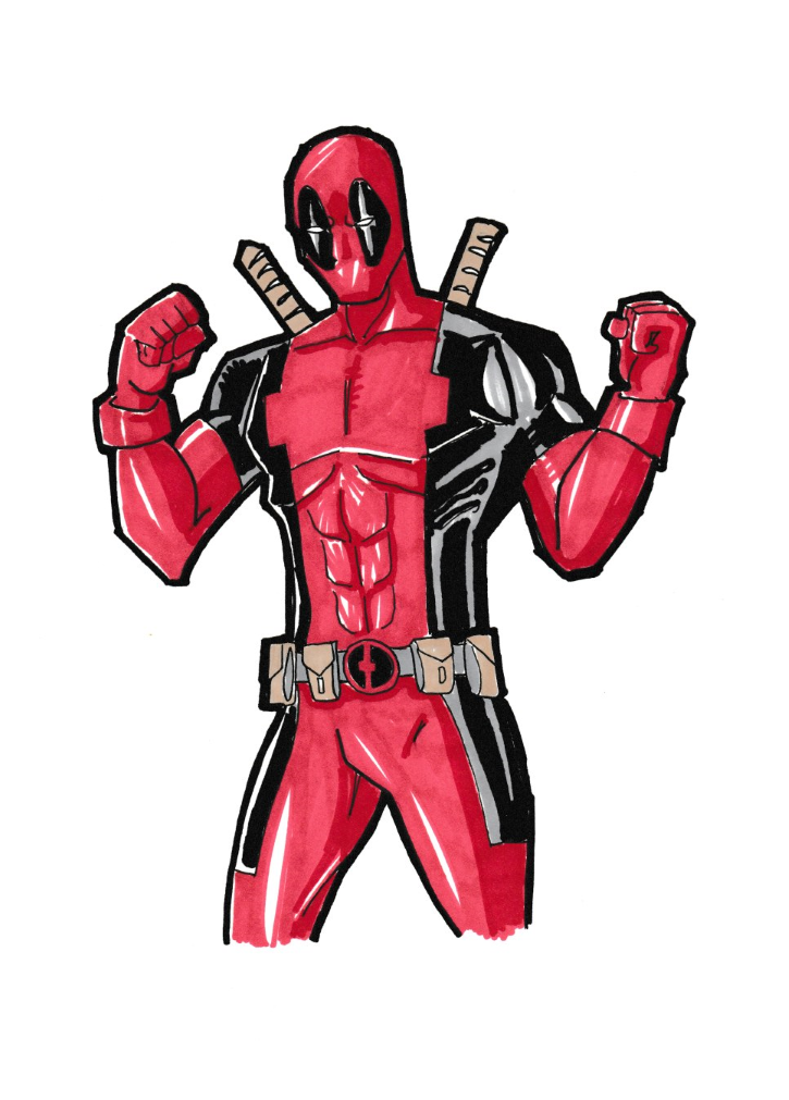 Deadpool Markers 2-9-16 by Glwills1126