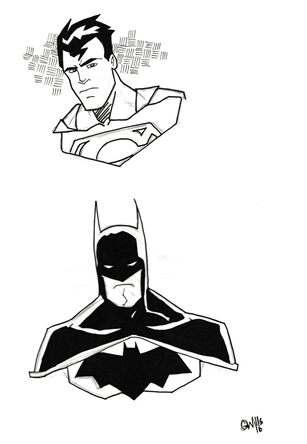 Superman - Batman 2-27-16 by Glwills1126