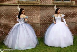 All-kinds-of-fur Moon dress ~ Phantasy Couture by Phantasma-Studio