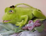 Frog handbag to match the dress