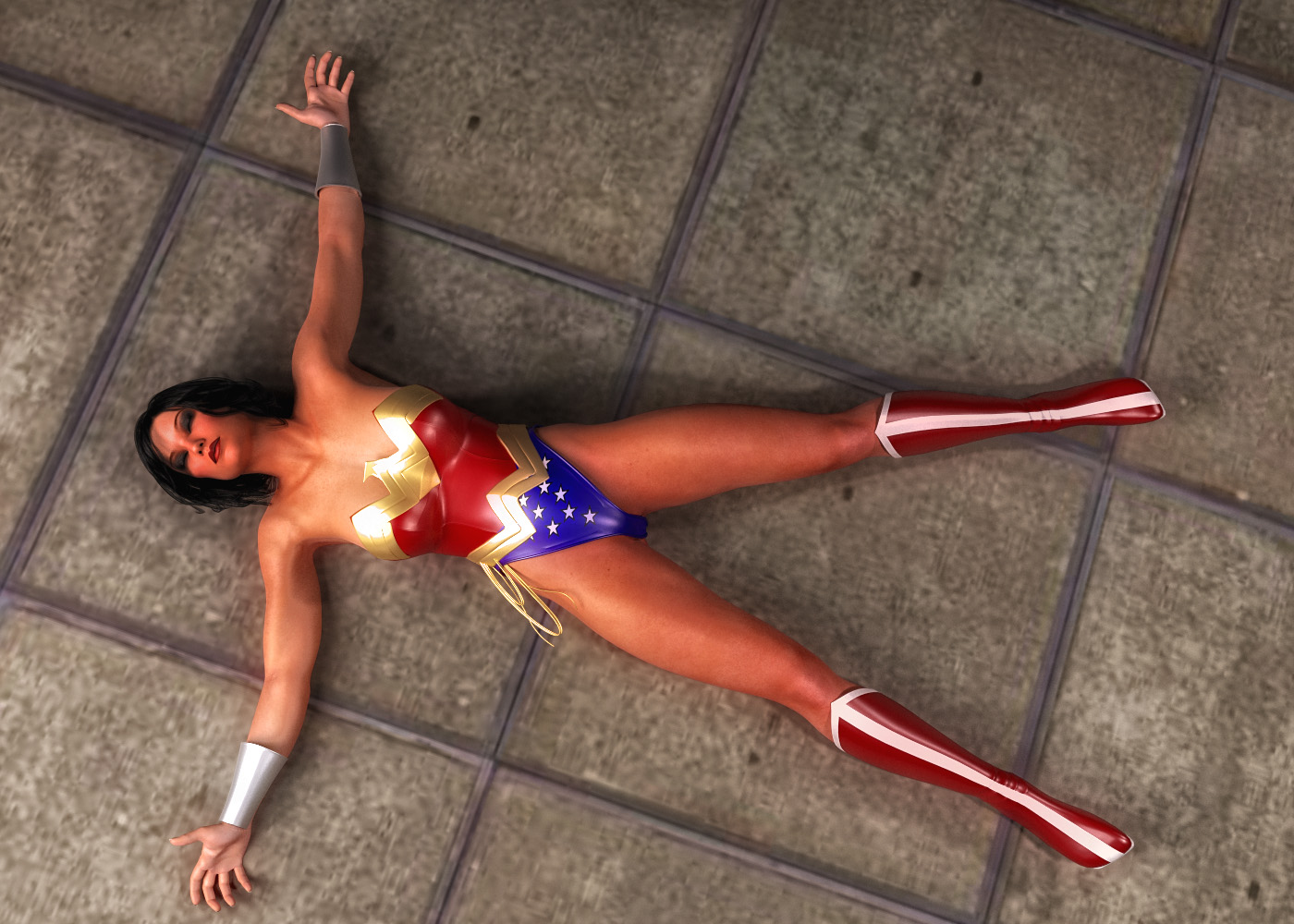 Wonder Woman KO by zzzcomics