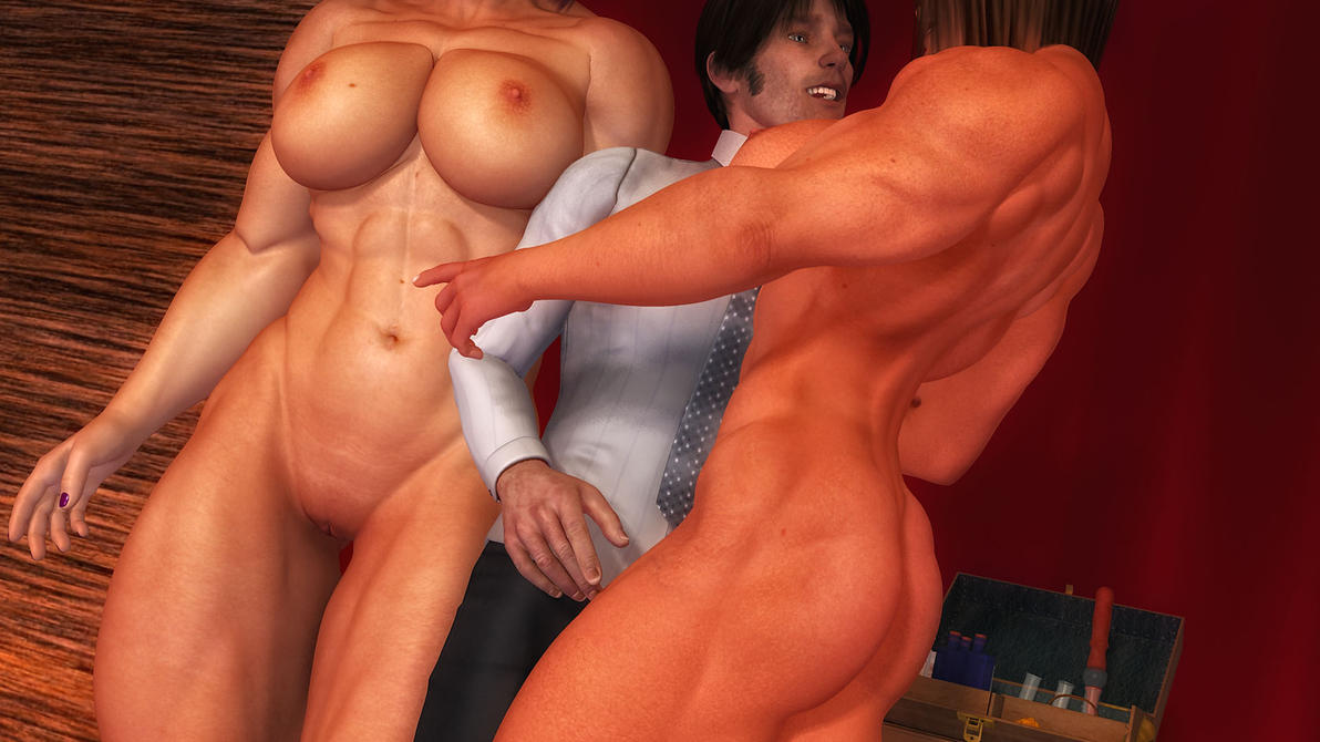 3D Muscle Sex female muscle growth and m/f muscle/size growth - the