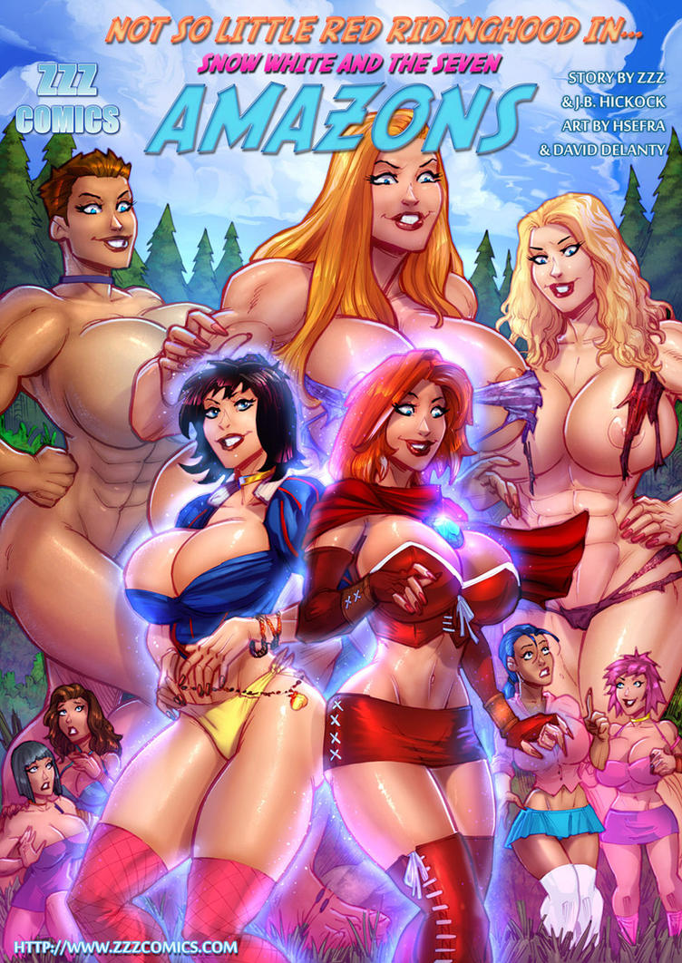 Snow White and the Seven Amazons Cover by zzzcomics