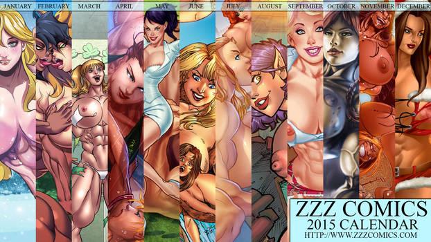 2015 ZZZ Comics Desktop Calendar now available by zzzcomics