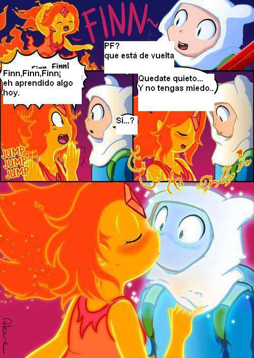 finn y princesa flama by paloma100