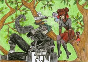 New friends - Alia and Shadow by Hina-Monoko
