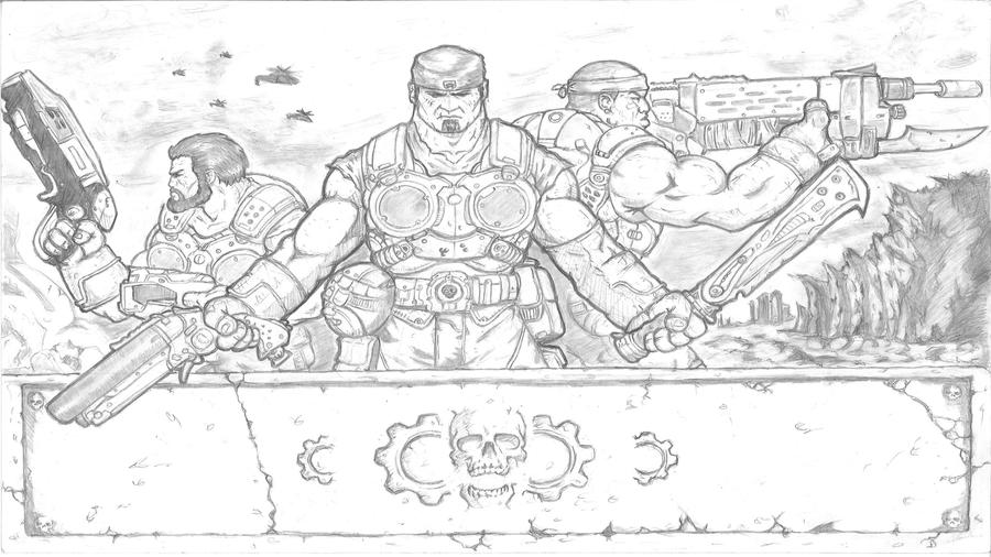 Gears Of War 3 Entry By Bam217 On Deviantart Coloring Pages