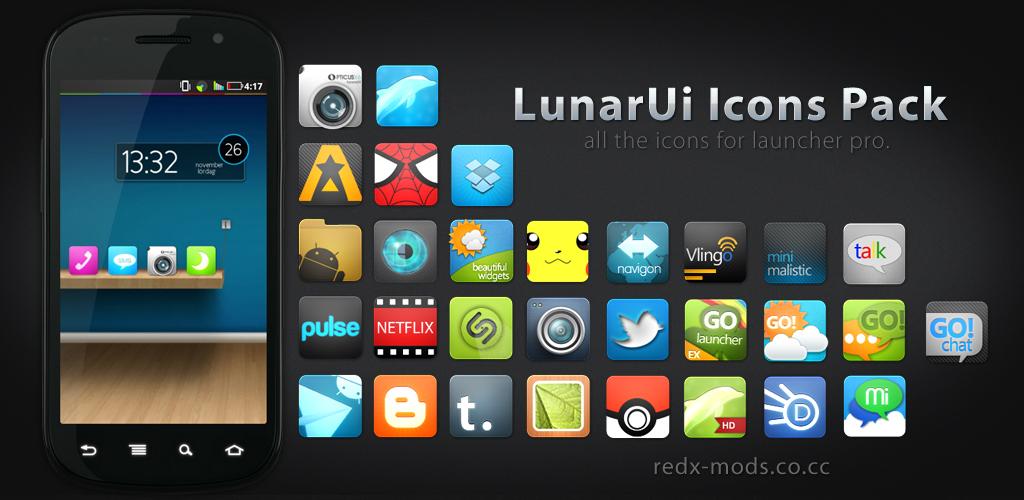 LunarUi - Launcher Pro by R3D-X7