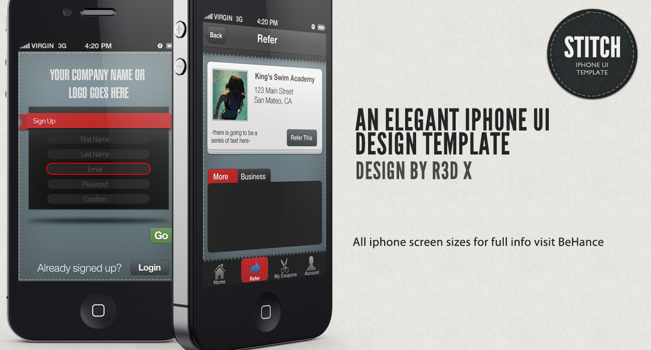Stitch Iphone Ui Design by R3D-X7