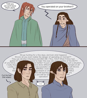 Elros and Elrond - new ears pt 2