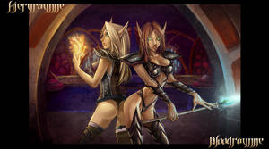 WOW girls on the prowl by Meiphon