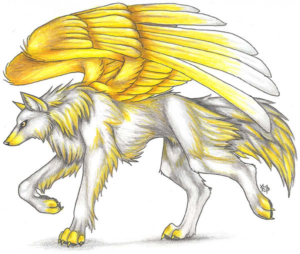 Wings Orange Yellow Anime Wolves Wwwimagessurecom